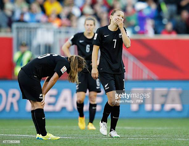 Ali Riley of New Zealand is dejected after the FIFA Women's World Cup 2015 Group A match between China PR and New Zealand at Winnipeg Stadium on June...