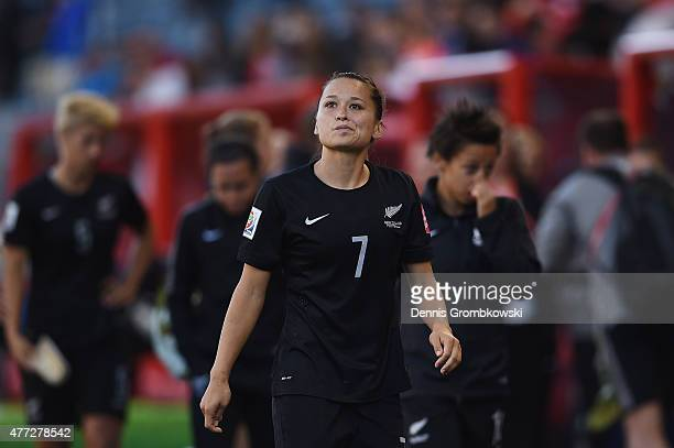 Ali Riley of New Zealand looks dejected after the FIFA Women's World Cup Canada 2015 Group A match between China PR and New Zealand at Winnipeg...