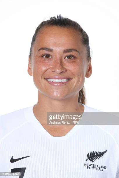 Ali Riley of New Zealand poses for a portrait during the official FIFA Women's World Cup 2019 portrait session at Hotel Mercure Le Havre Centre...