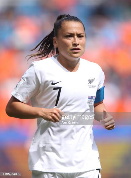 Ali Riley of New Zealand reacts during the 2019 FIFA Women's World Cup France group E match between New Zealand and Netherlands at on June 11, 2019...