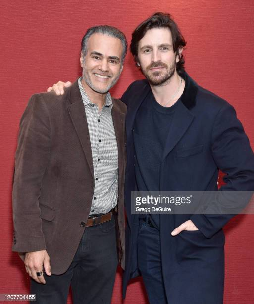 """Ali Saam and Eoin Macken attend the Los Angeles Premiere of Roxwell Films """"I Am Fear"""" at Laemmle Monica Film Center on February 20 2020 in Santa..."""