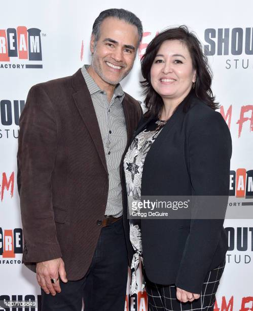 """Ali Saam and Monica Garcia attend the Los Angeles Premiere of Roxwell Films """"I Am Fear"""" at Laemmle Monica Film Center on February 20 2020 in Santa..."""
