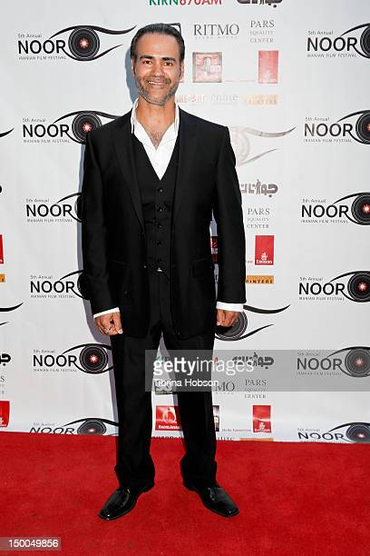 Ali Saam attends the 5th annual Noor Iranian Film Festival awards ceremony at Skirball Cultural Center on August 8 2012 in Los Angeles California