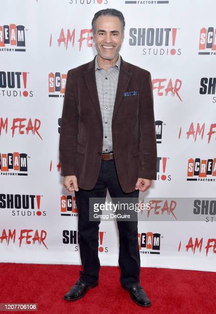 """Ali Saam attends the Los Angeles Premiere of Roxwell Films """"I Am Fear"""" at Laemmle Monica Film Center on February 20 2020 in Santa Monica California"""