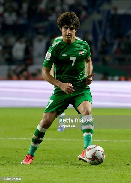 Ali Safaa Hadi of Iraq in action during the AFC Asian Cup Group D match between Iran and Iraq at Al Maktoum Stadium on January 16 2019 in Dubai...