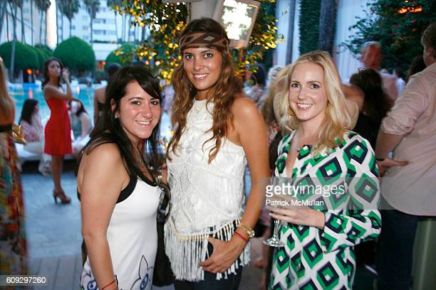 Ali Samek Jilian Sanz and Jacky Lewis attend Launch of Diane von Furstenberg Soleil Swim and Beach Collection at The Delano on July 13 2007