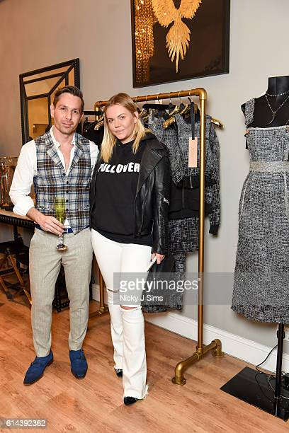 Ali Samli and Dasha Pashevkina attend the ConSept Charity Shopping Event in London at ConSept King's Road on October 13 2016 in London England