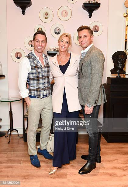 Ali Samli Deborah Chande and Goran Svilar attend the ConSept Charity Shopping Event in London at ConSept King's Road on October 13 2016 in London...