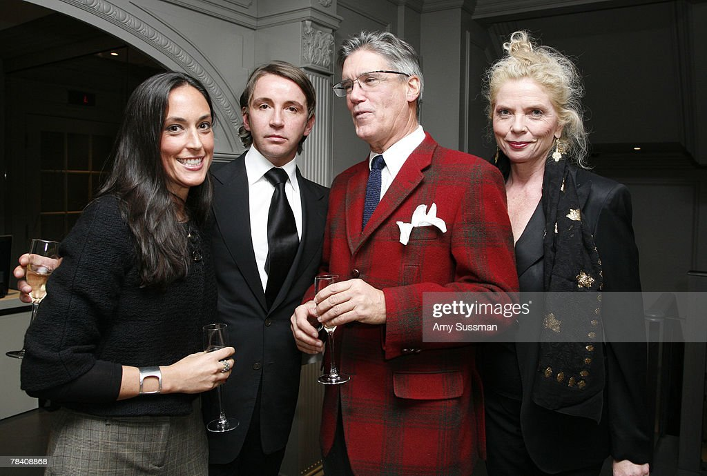 Ali Schwartz, Kristiaen Van Gastel, Vice President of Marketing for Elite Traveler, Bryan Oliphant, and Alexandra Nastase attend the Leviev Diamonds and Elite Traveler holiday cocktail party at Leviev Diamonds December 11, 2007 in New York City.