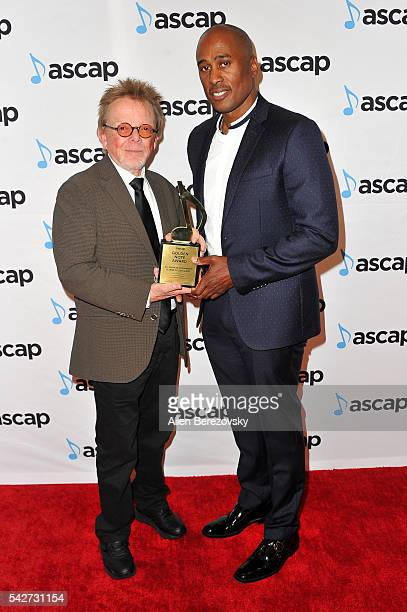 Ali Shaheed Muhammad of A Tribe Called Quest receives a Golden Note Award from ASCAP President Chairman Paul Williams the 29th Annual ASCAP Rhythm...