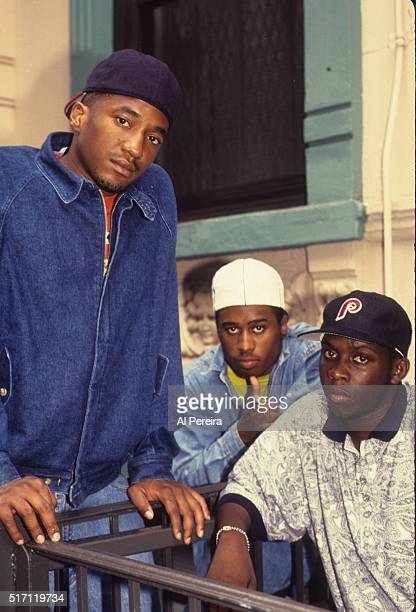 Ali Shaheed Muhammad Phife Dawg and QTIp of the hip hop group A Tribe Called Quest pose for a portrait session in July 1991 in New York