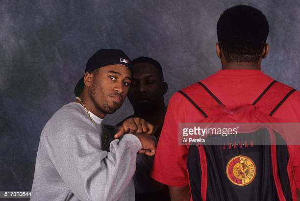 Ali Shaheed Muhammad Phife Dawg and QTip of the hip hop group 'A Tribe Called Quest' pose for a portrait session in September 1993 in New York