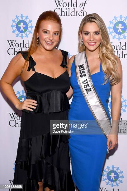 Ali Stagnitta and Sarah Rose Summers attend the 2018 World of Children Awards Ceremony and Benefit on November 1 2018 in New York City
