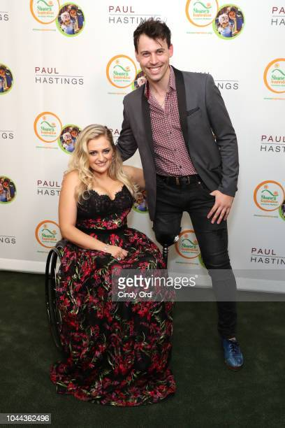 Ali Stroker and Evan Ruggiero attend Broadway's Best Comes Together To Salute Chita Rivera At Touch The Sky A Benefit To Build NY's First Shane's...