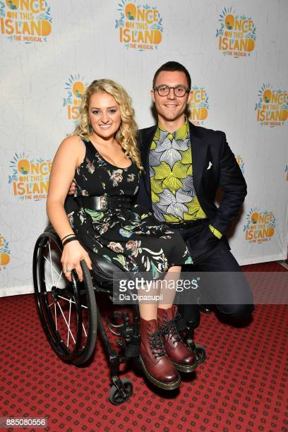 Ali Stroker and guest attend the 'Once On This Island' Broadway Opening Night at Circle in the Square Theatre on December 3 2017 in New York City
