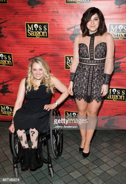 Ali Stroker and Krysta Rodriguez attend 'Miss Saigon' opening night at Broadway Theatre on March 23 2017 in New York City
