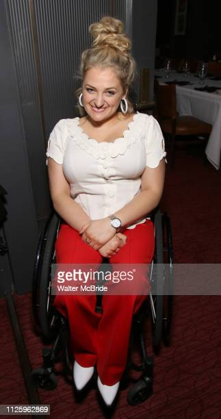 Ali Stroker attends the Rodgers Hammerstein's 'Oklahoma' Cocktail Party at Bob's Steak Chop House on February 19 2019 in New York City