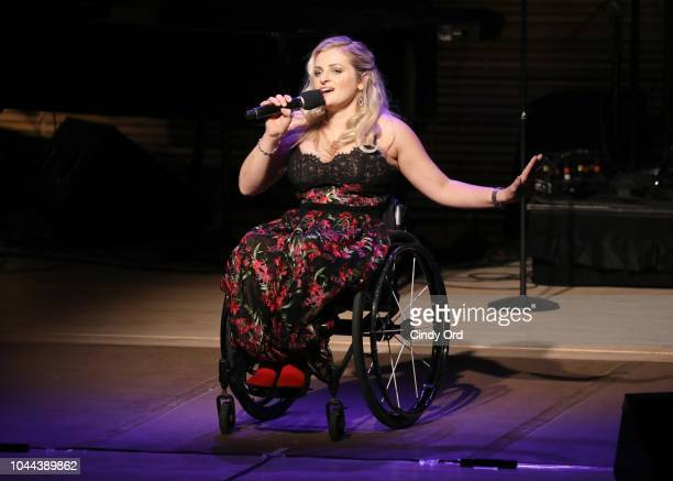 Ali Stroker performs onstage during Broadway's Best Comes Together To Salute Chita Rivera At Touch The Sky A Benefit To Build NY's First Shane's...