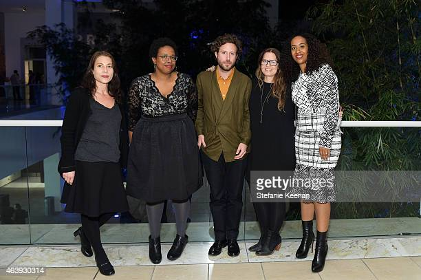 Ali Subotnick Jamillah James Aram Moshayedi Anne Ellegood and Naima Keith attend Hammer Museum's Provocations Presented In Partnership With Burberry...