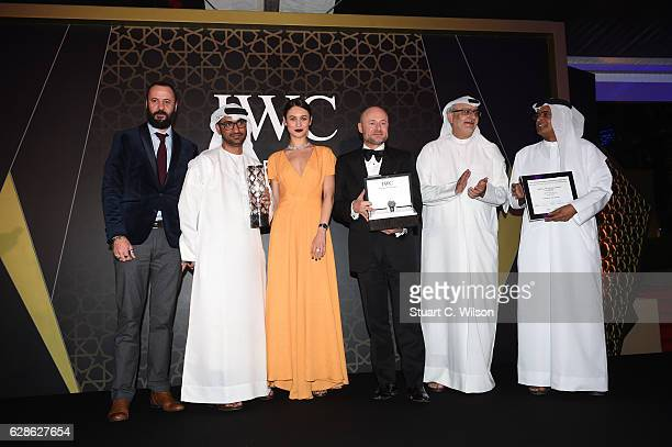 Ali Suliman actor Abdullah Hassan Ahmed director Olga Kurylenko Actress Georges Kern CEO IWC Schaffhausen and guests attend the fifth IWC Filmmaker...