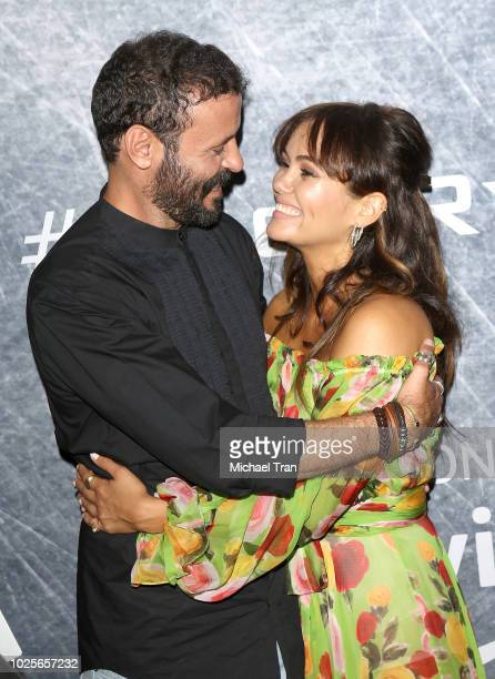 Ali Suliman and Dina Shihabi attend the Los Angeles premiere of 'Tom Clancy's Jack Ryan' at the opening night of Los Angeles Fleet Week 2018 held at...