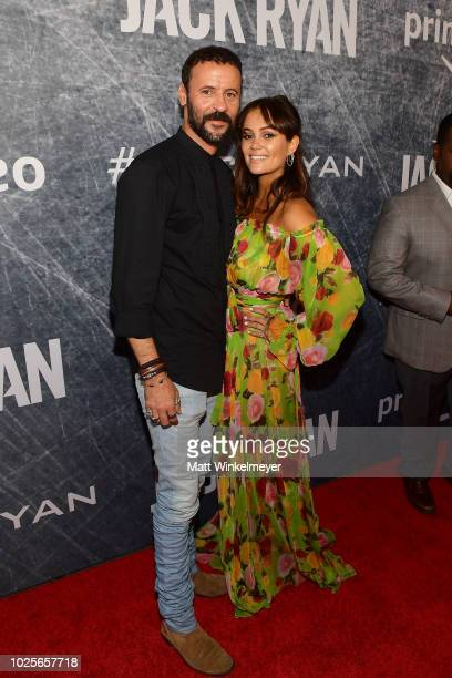 Ali Suliman and Dina Shihabi attend the premiere of Tom Clancy's Jack Ryan at The Opening Night of Los Angeles Fleet Week 2018 at Battleship Iowa on...