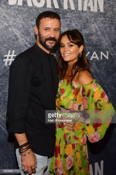 Ali Suliman and Dina Shihabi attend the premiere of 'Tom Clancy's Jack Ryan' at The Opening Night of Los Angeles Fleet Week 2018 at Battleship Iowa...