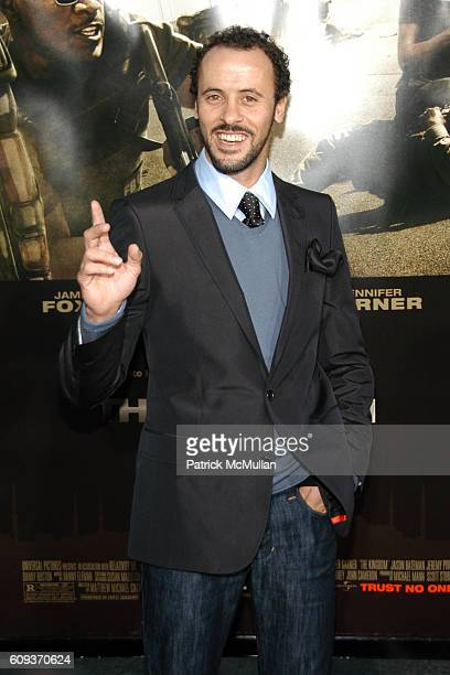Ali Suliman attends The Kingdom Premiere Arrivals at Westwood on September 17 2007 in Los Angeles CA