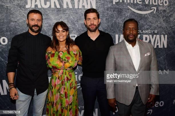 Ali Suliman Dina Shihabi John Krasinski Wendell Pierce attend the premiere of 'Tom Clancy's Jack Ryan' at The Opening Night of Los Angeles Fleet Week...