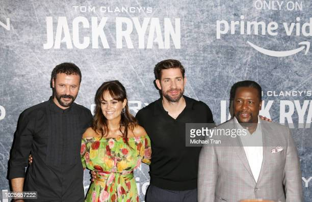 Ali Suliman Dina Shihabi Wendell Pierce and John Krasinski attend the Los Angeles premiere of 'Tom Clancy's Jack Ryan' at the opening night of Los...