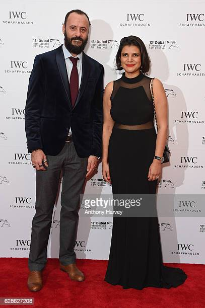 Ali Suliman Palestinian actor and Shivani Pandya attend the fifth IWC Filmmaker Award gala dinner at the 13th Dubai International Film Festival...