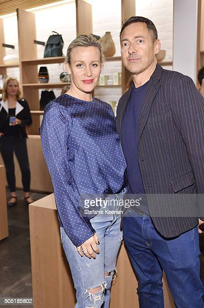 Ali Taekman and Gregory Parkinson attend Jenni Kayne and Martha Stewart celebrate Martha Stewart Living's 25th Anniversary Issue at Jenni Kayne...