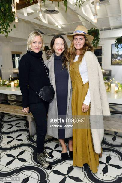 Ali Taekman Jenni Kayne and Peggy North attend Jenni Kayne Home Collection Launch at Malibu Farm on October 11 2017 in Malibu California