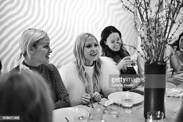 Ali Taekman Rachel Zoe and Jenni Kayne attend Jenni Kayne Fall 2016 Collection Launch Dinner on February 4 2016 in Los Angeles California