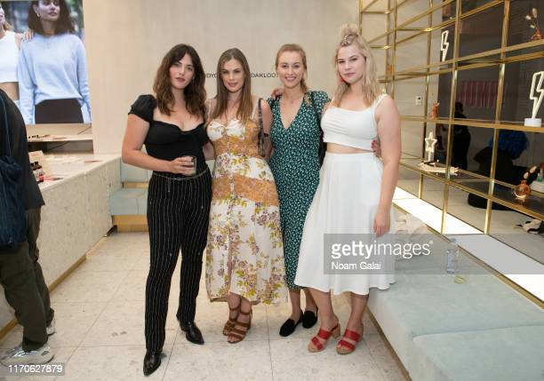 Ali Tate Cutler Chloe Marshall Baillie Riddell and Melissa Koole attend the Beyond Yoga x Amanda Kloots Collaboration Launch Event on August 27 2019...