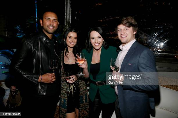 Ali Thomas Raven Gates Alexis Waters and Jesse Bongiovi attend the KAABOO Texas Welcomes Hampton Water at The Joule Hotel on February 28 2019 in...