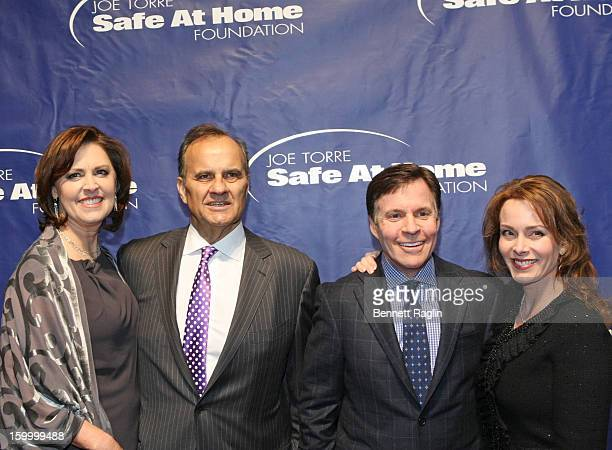 Ali Torre Joe Torre Bob Costas and Jill Sutton attend the Joe Torre Safe At Home Foundation's 10th Anniversary Gala at Pier Sixty at Chelsea Piers on...