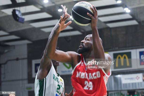 Ali Traore of Monaco during the Pro A match between Nanterre 92 and Monaco on January 21 2018 in Nanterre France