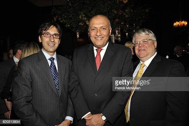 Ali Tulbah Egyptian Ambassador Sameh Shoukry and Paul Steltz attend Cocktail Reception Celebrating The Launch Of THE SHAFIK GABR COLLECTION at The...