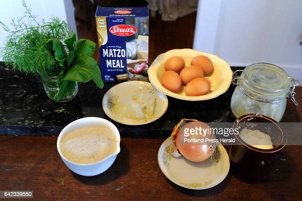 Ali WaksAdams makes Matzoh balls that contain an unusual ingredient horseradish leaves These are the ingredients