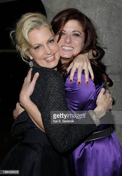 Ali Wentworth and Debra Messing attend Ali Wentworth's Ali In Wonderland And Other Tall Tales book launch at Sotheby's on February 6 2012 in New York...