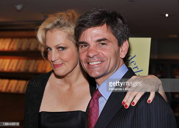 Ali Wentworth and George Stephanopoulos attend Ali Wentworth's Ali In Wonderland And Other Tall Tales book launch at Sotheby's on February 6 2012 in...