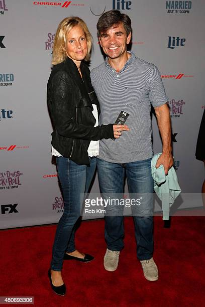 Ali Wentworth and George Stephanopoulos attend the New York Series Premiere of SexDrugsRockRoll at the SVA Theater on July 14 2015 in New York City