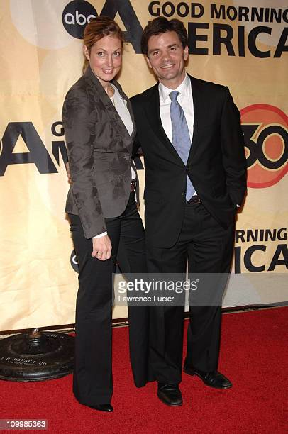 Ali Wentworth and George Stephanopoulos during Good Morning America Celebrates Its 30th Anniversary at Avery Fisher Hall in New York City New York...