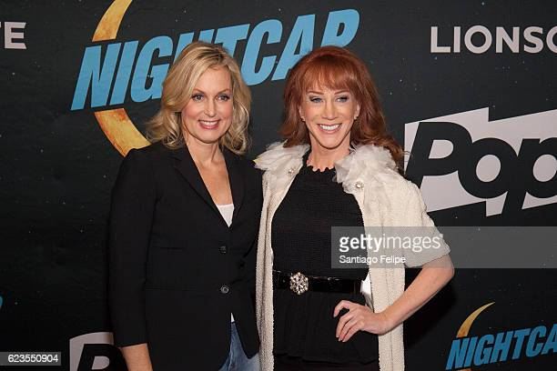Ali Wentworth and Kathy Griffin attend Nightcap Premiere Party at Crosby Street Hotel on November 15 2016 in New York City
