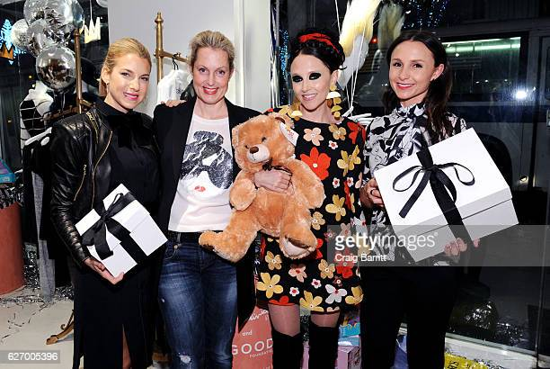 Ali Wentworth, Jessica Seinfeld, Stacey Bendet and Georgina Bloomberg attend alice + olivia by Stacey Bendet x GOOD+ Foundation Toy Drive Kick-Off on...