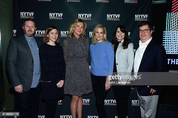 Ali Wentworth joins producers Miles Kahn Hallie Haglund Haleigh Raff Deirdre Connolly and Terrence Gray during Pop and Lionsgate Present 'Nightcap'...