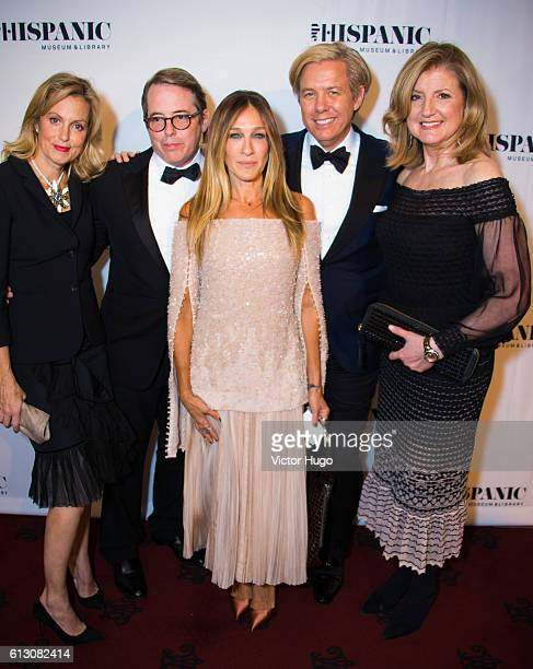 Ali Wentworth Matthew Broderick Sarah Jessica Parker Michael Smith and Arianna Huffington attend The Hispanic Society Museum and Library 2016 Gala at...