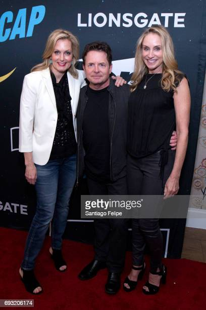 Ali Wentworth Michael J Fox and Tracy Pollan attend Nightcap Season 2 New York Premiere Party at Crosby Street Hotel on June 6 2017 in New York City