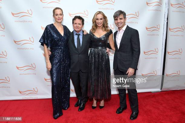 Ali Wentworth Michael J Fox Tracy Pollan and George Stephanopoulos attend A Funny Thing Happened On The Way To Cure Parkinson's benefitting The...